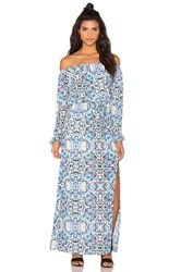 Eight Sixty Broken Bloom Maxi Dress Blue