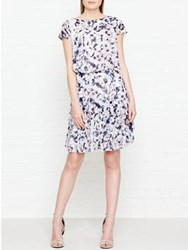 Reiss Annah Printed Ruffle Dress Multicolour