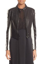 Belstaff Women's Staithes Star Embellished Leather Jacket