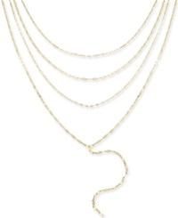 Thalia Sodi Gold Tone Multi Layer Choker Lariat Necklace 16 3 Extender Created For Macy's