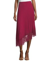 A.L.C. Claude A Line Pleated Skirt With Lace Hem Pink