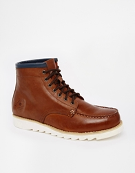 Bellfield Moccasin Boots Brown