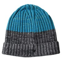 Lords Of Harlech Benny Beanie In Grey And Teal Blue Grey