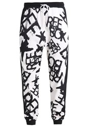 Reebok Tracksuit Bottoms White Black