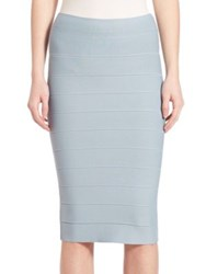 Bcbgmaxazria Lager High Waisted Bandage Skirt Light Ash Blue