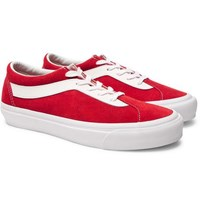 Vans Staple Bold Ni Suede And Leather Sneakers Red
