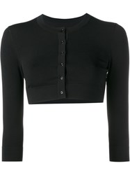 Alaia Cropped Cardigan Black
