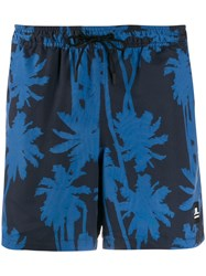 J. Lindeberg J.Lindeberg Printed Banks Swimming Shorts Blue