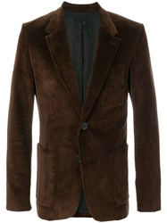 Ami Alexandre Mattiussi Half Lined Two Buttons Jacket Brown