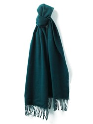 Jaeger Merino Cashmere Scarf Forest Green