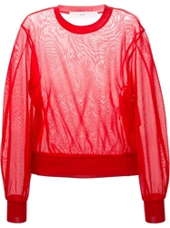 Toga Pulla Sheer Sweater Red