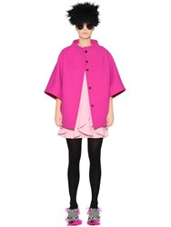 Gianluca Capannolo Oversized Stretch Wool Coat