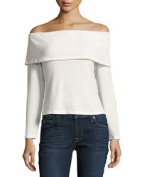 Nytt Off The Shoulder Long Sleeve Sweater Off White