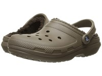 Crocs Classic Lined Clog Walnut Espresso Clog Shoes Multi