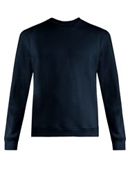 Fanmail Crew Neck Cotton Sweatshirt Navy