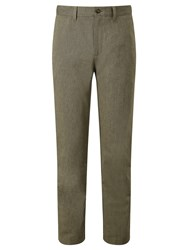 John Lewis Pinpoint Cotton Trousers Brown