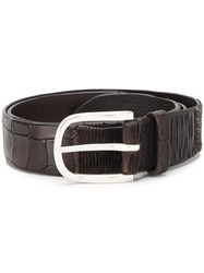 Orciani Embossed Spiral Belt Brown