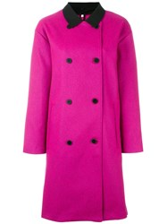 Opening Ceremony 'Trinity' Overcoat Pink And Purple