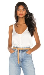 7 For All Mankind Button Up Tank In White. Chalk