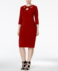 Inc International Concepts Plus Size Cutout Sheath Dress Only At Macy's Red
