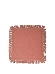 Once Milano X Peter Pilotto Fringed Linen Napkin Pink