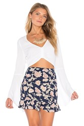 Flynn Skye Alyssa Crop Top White