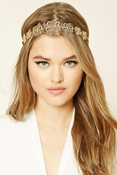 Forever 21 Leaf Cutout Headwrap Gold
