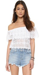 Tiare Hawaii Boho Top White