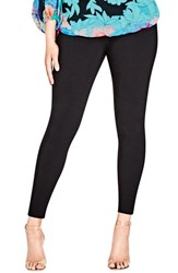 City Chic Plus Size Women's Bengaline Jean Leggings Black