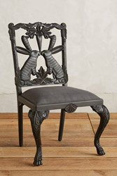 Anthropologie Handcarved Menagerie Rabbit Dining Chair Black