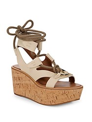 Frye Dahlia Robe Wedge Sandals White
