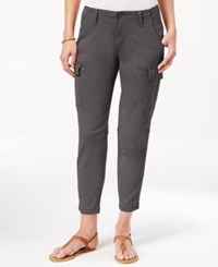 Jag Petite Powell Cropped Cargo Pants Flint
