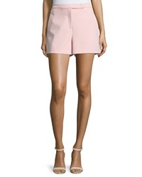 Halston Mid Rise Structured Shorts Sorbet Pink
