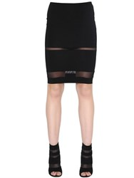 Alexandre Vauthier Transparent Stripes Stretch Jersey Skirt