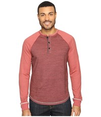 True Grit Twisted Heathers Raglan Henley Brick Men's Clothing Red