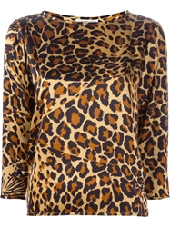 Yves Saint Laurent Vintage Leopard Top