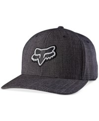 Fox Men's Supposed To Embroidered Logo Flexfit Hat Heather Black