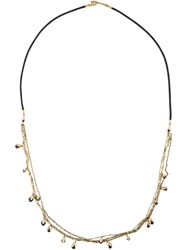 Isabel Marant Chain Bead Rope Necklace Black