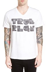 Men's True Religion Brand Jeans 'Trla' Graphic V Neck T Shirt