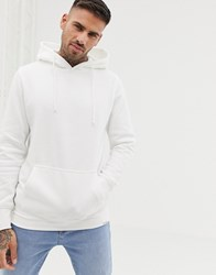 Pull And Bear Hoodie In White White