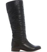 Bertie Tiffin Knee High Boots Black Leather