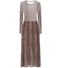 Ganni Tilden Maxi Dress Brown