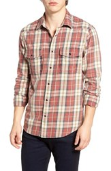 Threads For Thought Men's Plaid Western Shirt