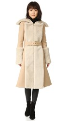 Gareth Pugh Double Shearling Coat Camel