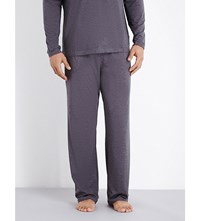 Hugo Boss Drawstring Jersey Pyjama Bottoms Navy Grey