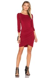 Bobi Jersey Ruched Dress Red