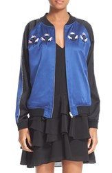 Opening Ceremony Women's Reversible Embroidered Silk Bomber Jacket