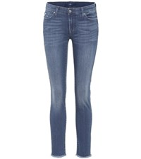 7 For All Mankind Pyper Cropped Jeans Blue