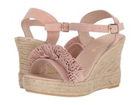 Sesto Meucci 8476 A Mid Pink Suede Dusty Pink Wedge Shoes