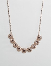 Ted Baker Siero Crystal Daisy Lace Necklace Gold